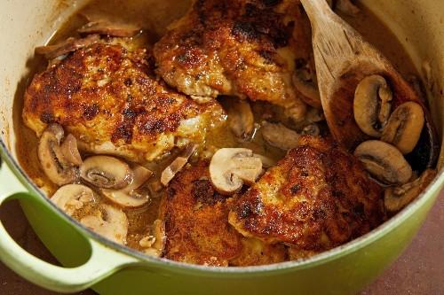 Wine-Braised Chicken With Mushrooms - The Washington Post