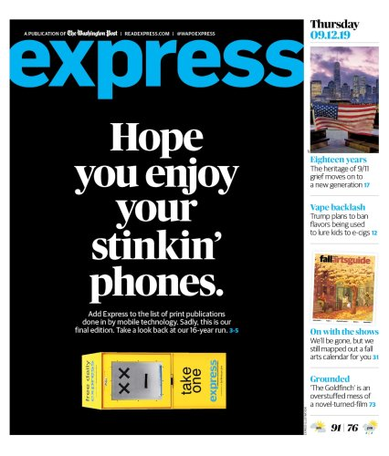 It's the end of the line for Washington Post Express
