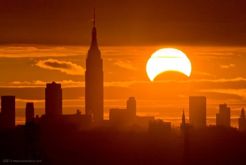 Partial solar eclipse will bring crescent sunrise to Northeast U.S. on Thursday