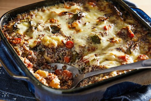 This decadent quinoa bake is a clever way to reinvent leftover Thanksgiving vegetables