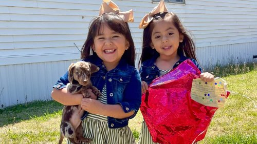 Twins tied their Santa lists to balloons. 500 miles away, a stranger fulfilled their requests — puppy included.