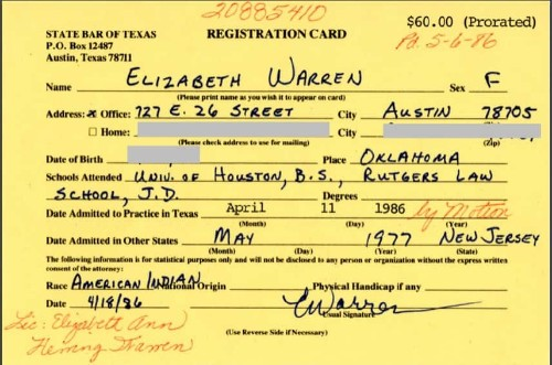 Elizabeth Warren apologizes for calling herself Native American