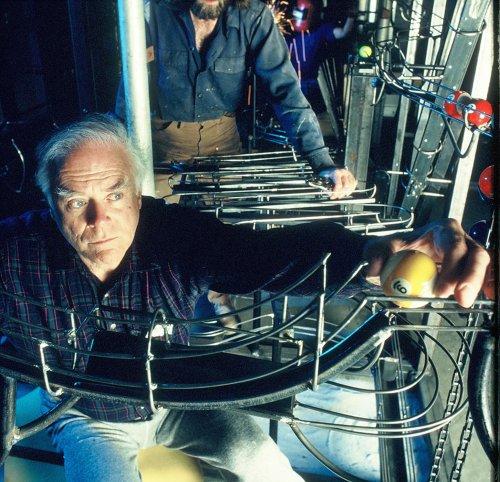 George Rhoads, creator of whimsical 'ball machine' sculptures, dies at 95
