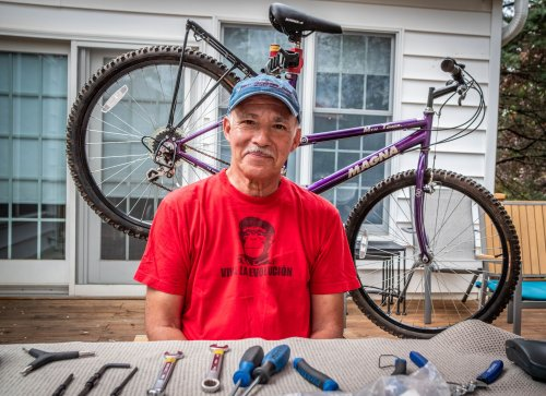 A pandemic project: Fixing up bicycles and giving them away free