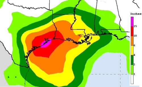 Hurricane watch issued for Texas as Harvey re-forms; tremendous rainfall possible