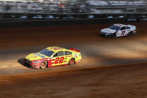 Joey Logano wins NASCAR's mud-caked, dust-cloaked dirt race at Bristol