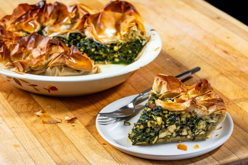 Customize this crispy, cheesy spinach pie any way you like it
