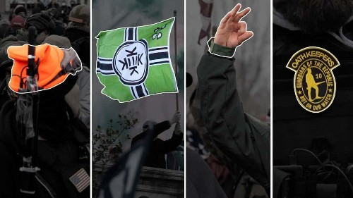 Identifying far-right symbols that appeared at the U.S. Capitol riot