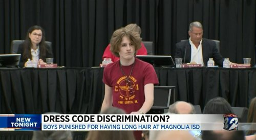 A Texas school district bans boys from wearing long hair. Now, some students are suing.
