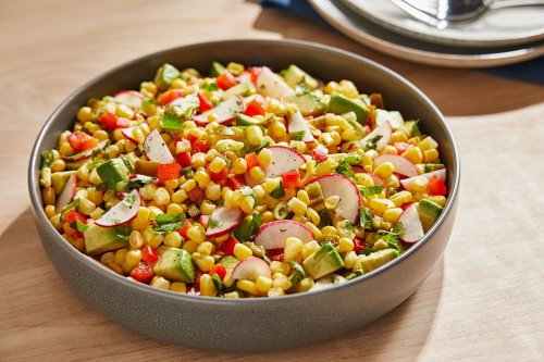 This corn salad with avocado and jalapeño brings the zing for summer cookouts