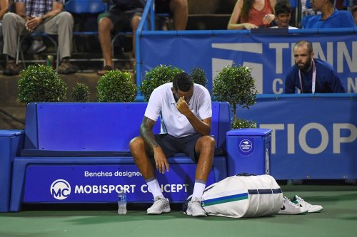 Defending Citi Open champ Nick Kyrgios ousted in first round: 'My head's in the shed.'
