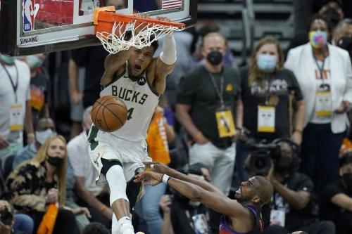 Milwaukee Bucks hang on to win Game 5 of NBA Finals over Phoenix Suns