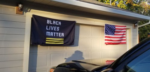 An off-duty officer 'terrorized' a family displaying a BLM flag. Police drove him home without arrest.