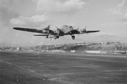 In 1948, one demonstration of a 'hands-off' B-17 fight landing almost went very wrong