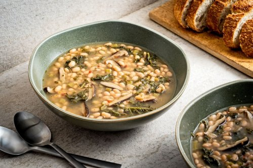 This Instant Pot white bean and kale recipe is good to the last drop of herby, earthy broth