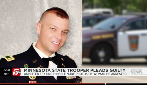 After her arrest, she found her explicit photos sent to a strange number. A state trooper answered the line.