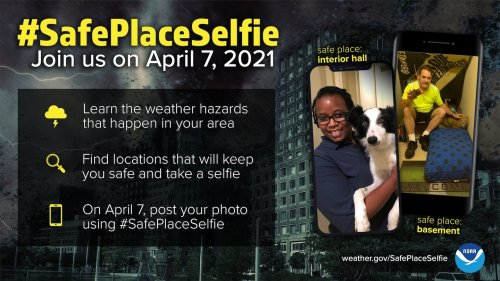 Why the Weather Service wants you to snap a 'safe place selfie' Wednesday