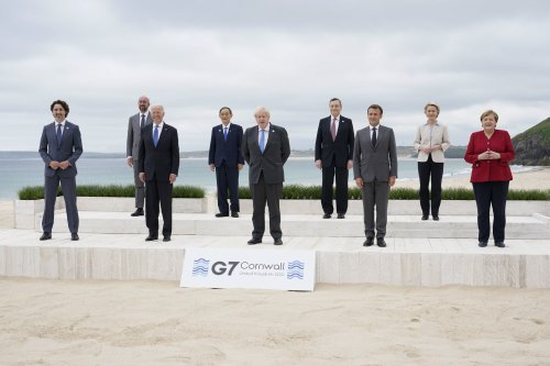 G-7 leaders try to signal that page has turned on Trump era
