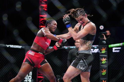 Claressa Shields stages third-round rally to subdue Brittney Elkin via TKO to win MMA debut