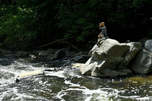 Rock Creek may look inviting, but don't go in the water