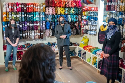 Vice President Harris is making her mark on the Washington-area crochet scene