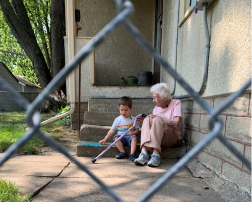 She's nearly 100. He's 2 and lives next door. Here's how they became best friends.