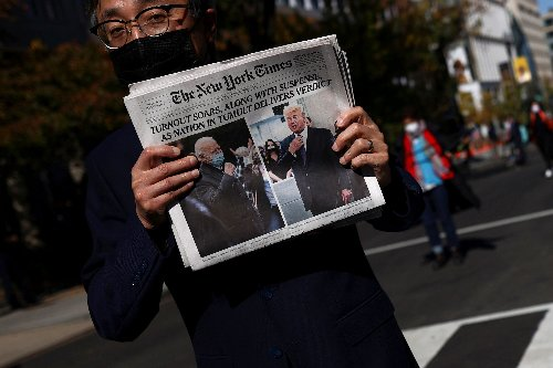 How newspaper front pages treated an Election Day with no clear winner