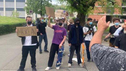 Das sagen die Aarauer Skater-Jungs, die sich den Corona-Demonstranten entgegenstellten