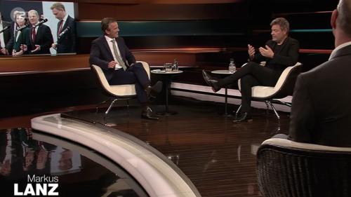 Markus Lanz lockt Robert Habeck mit Lindner-Video im TV aus der Reserve