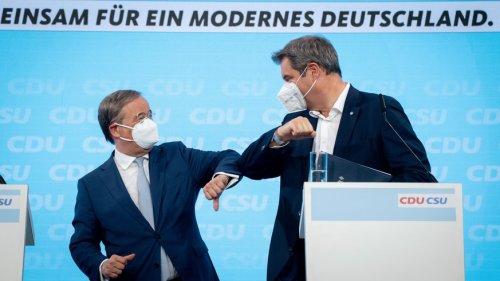 Söder und Laschet präsentieren Wahlprogramm und ernten Kritik für laschen Klimaschutz