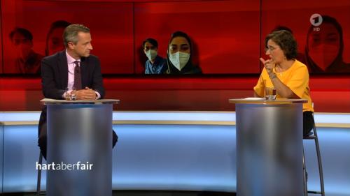 """Hart aber fair"": Moderatorin belehrt. Journalist reagiert genervt: ""Danke für den Wikipedia-Eintrag"""