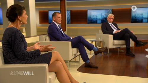 """Bei """"Anne Will"""": Linken-Politikerin Wagenknecht stutzt AfD-Mann Chrupalla zurecht"""