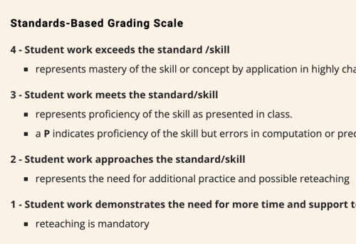 Opinion: Standard based grading sets students up for failure