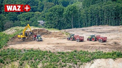 Arbeiten auf der Deponie in Bochum-Kornharpen nehmen Fahrt auf