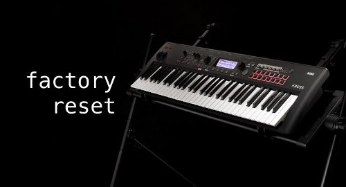 How to Factory Reset Korg KROSS 2 Synthesizer Workstation