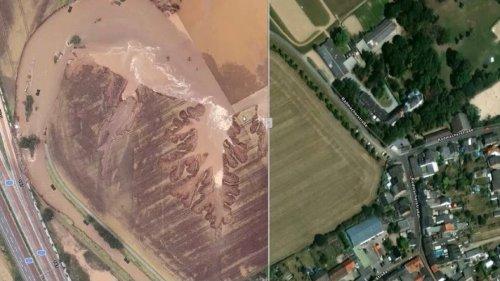 Hochwasserhilfe aus der Luft: Diese Bilder helfen nach der Flut