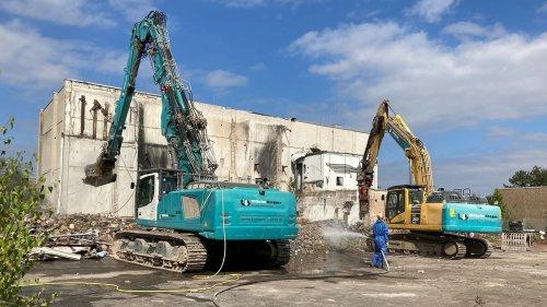 Zwölf Jahre nach Explosion: Abriss der Chemiefabrik WEKA in Iserlohn