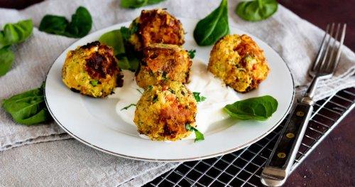 Mega lecker: Veggie Gemüsebällchen mit Kichererbsen