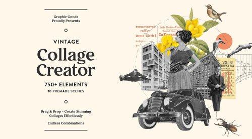 Vintage Collage Creator for Adobe Photoshop