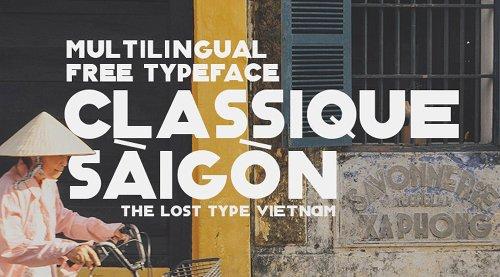 Classique Saigon Typeface by Manh Nguyen