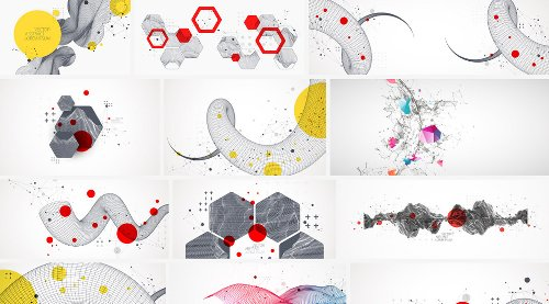 Download Abstract Vector Graphics of Fluid and Geometric Shapes