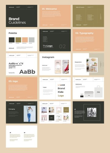 Download this Brand Guidelines Identity Brochure as Adobe InDesign Template