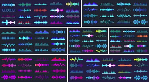 Download Colored Sound Waves as Vector Graphics