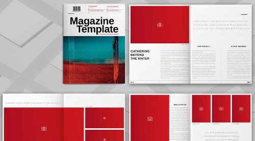 Adobe InDesign Magazine Template (US Letter Size)