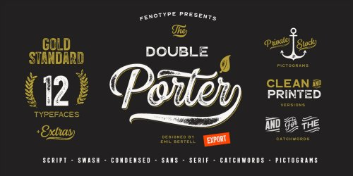 Double Porter Vintage Fonts from Fenotype