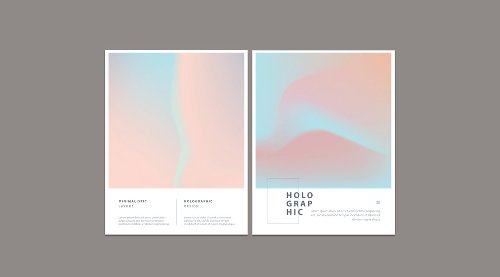 Abstract Minimalist Holographic Flyer Templates