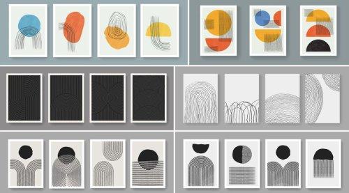 Abstract, Minimalist Geometric Poster Templates