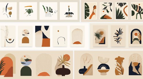 Download The Best Minimalist Boho-Style Vector Illustrations