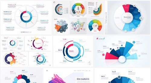 Circular Vector Charts for Web Elements & Infographics