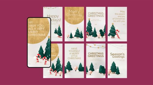 Download Lovely Christmas Greetings Instagram Story Templates